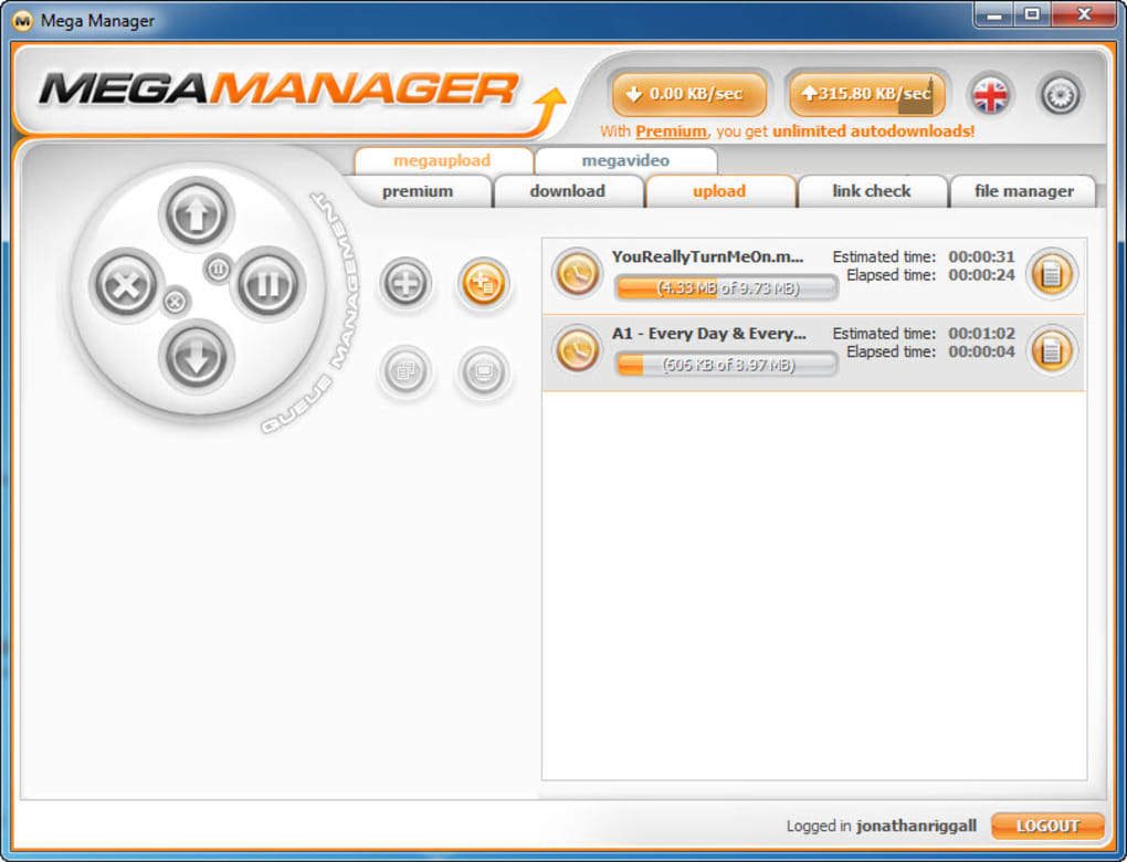 Mega download manager