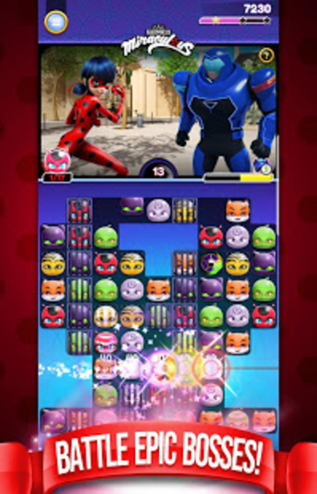 Miraculous Crush A Ladybug Cat Noir Match 3 For Android Download