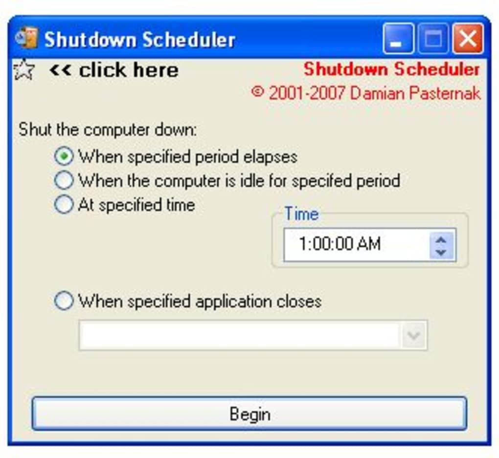 photo about Downloadable Scheduler titled Shutdown Scheduler - Down load