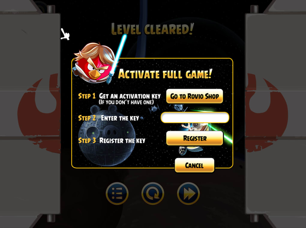 angry birds space activation key download