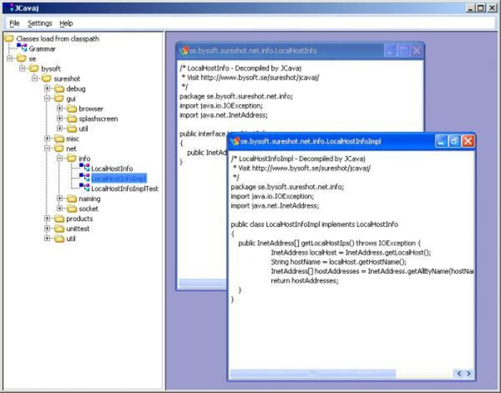 Cavaj Java Decompiler - Download