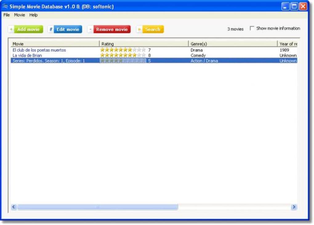Simple Movie Database - Download