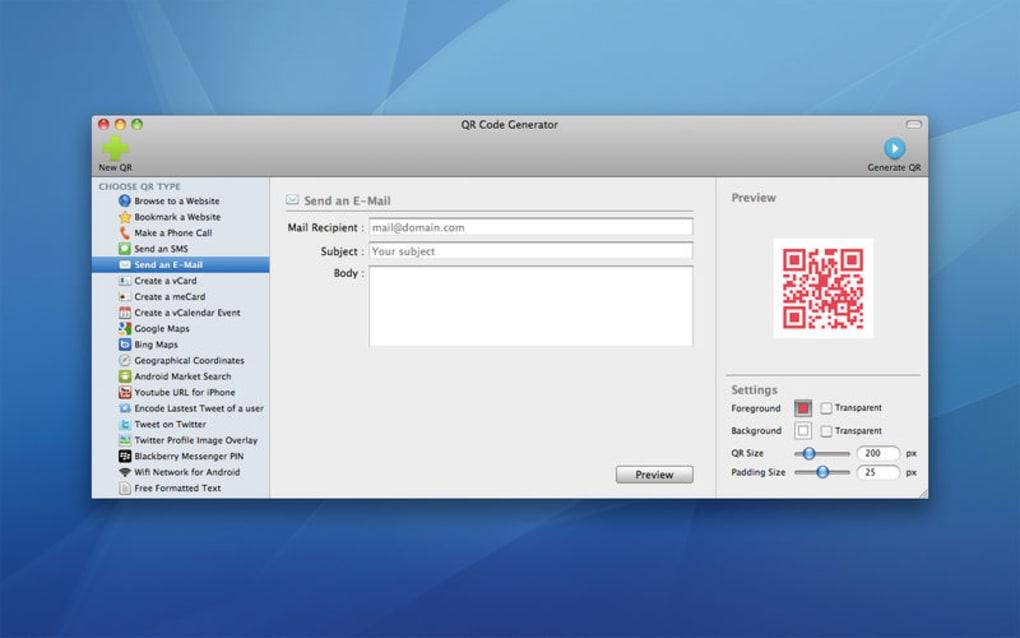 qr code generator free download mac