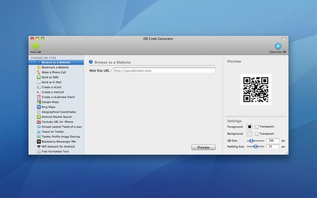 QR Code Generator for Mac - Download