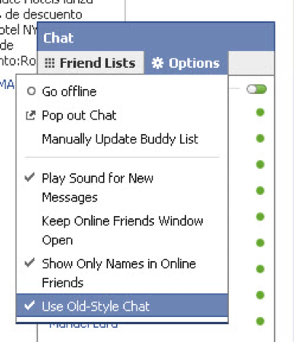 GRATUITEMENT CHAT TÉLÉCHARGER DISABLER FB SIDEBAR CHROME