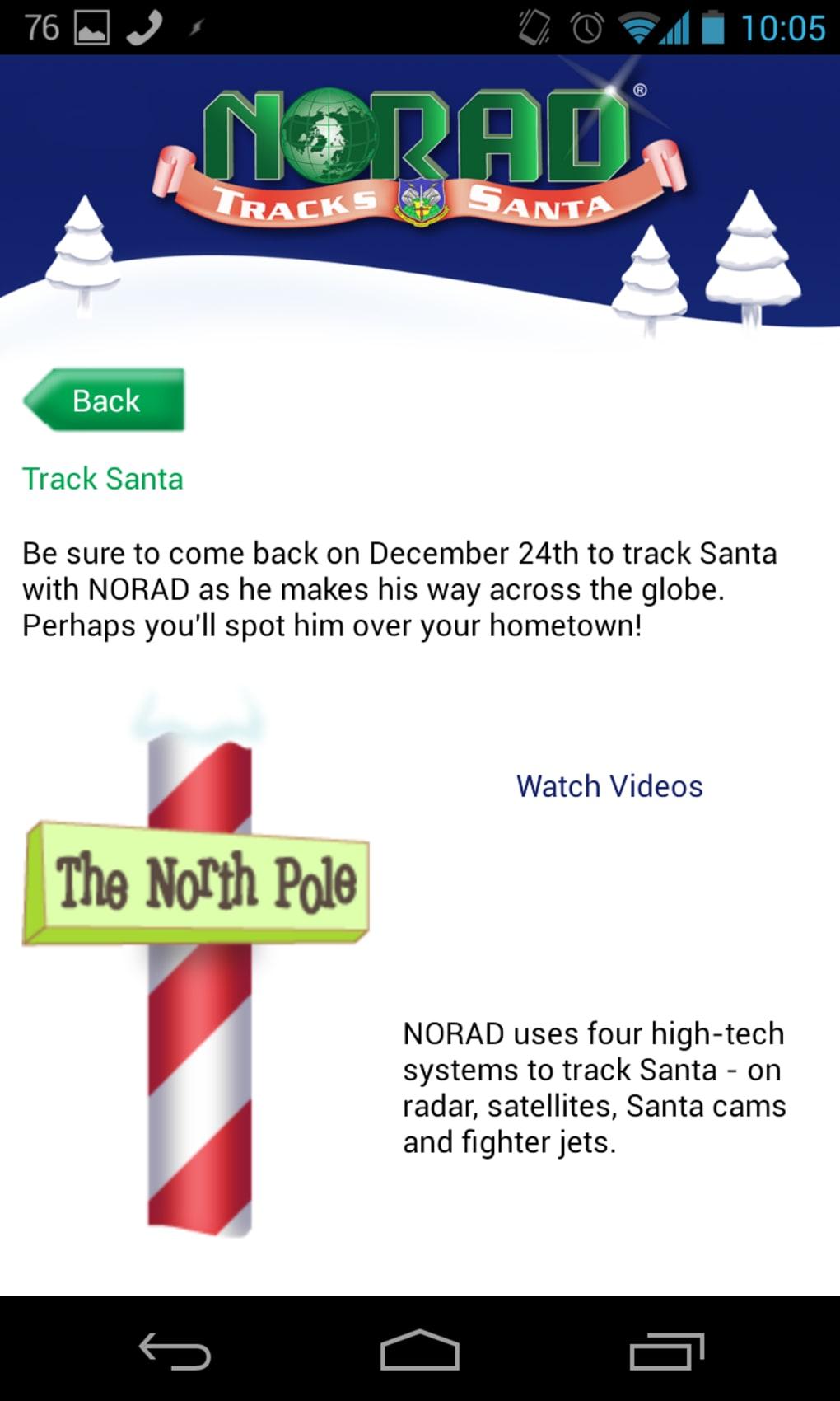 Norad Tracks Santa For Android Download