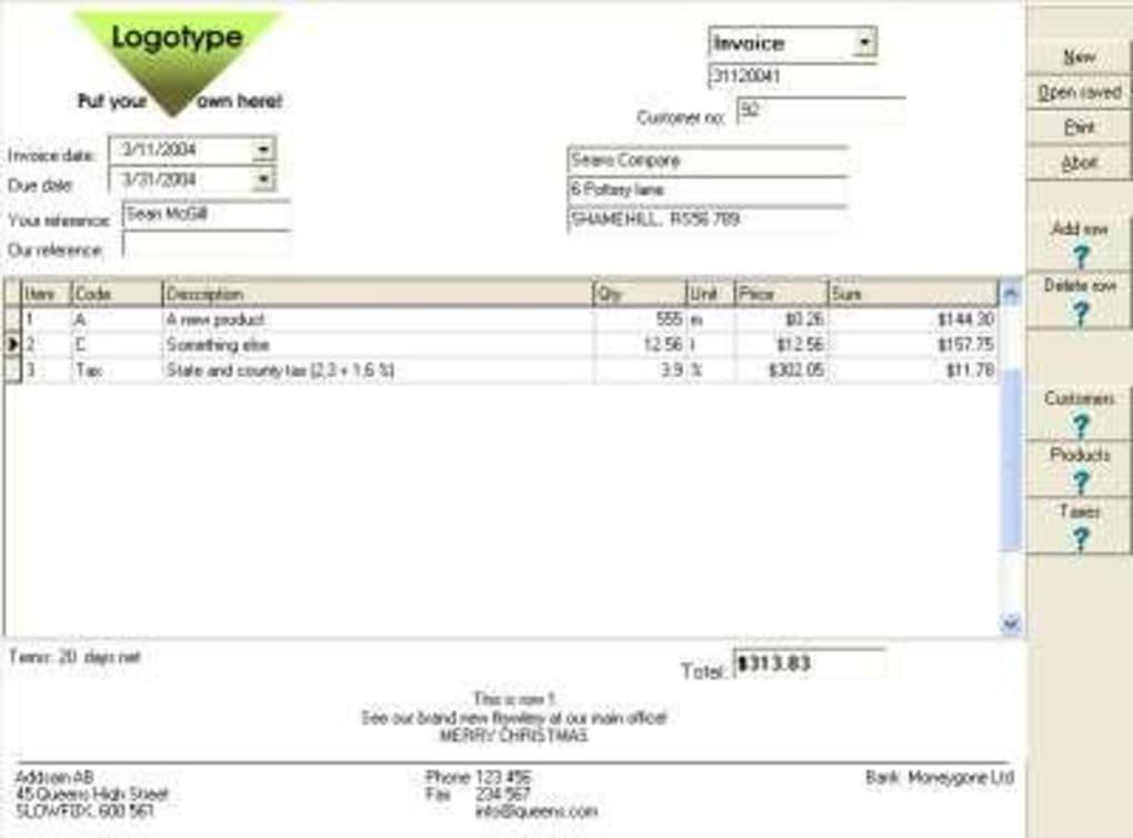 ab invoicing download