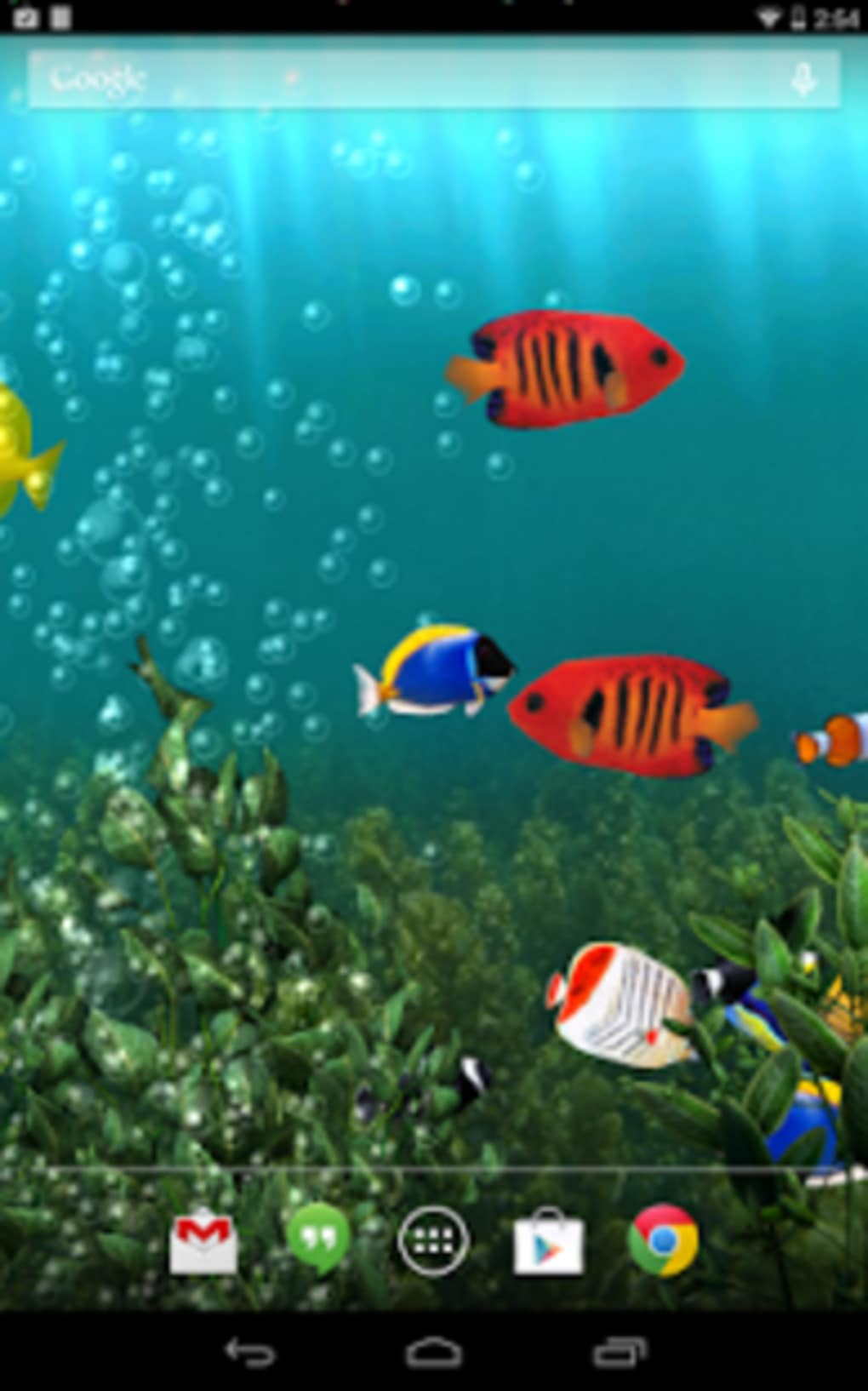 aquarium live wallpaper screenshot