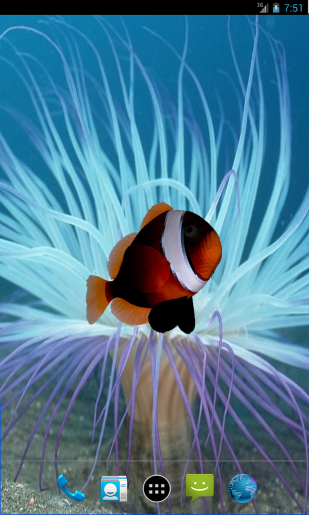 3D Clownfish Live Wallpaper for Android - Download