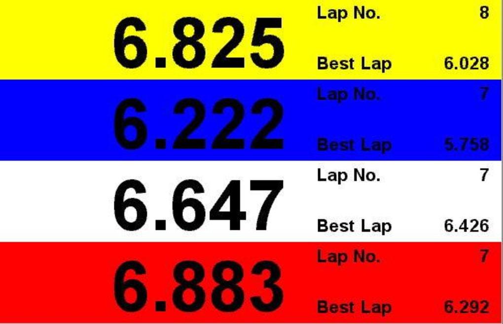 Laptimer 2000 >> Lap Timer - Download