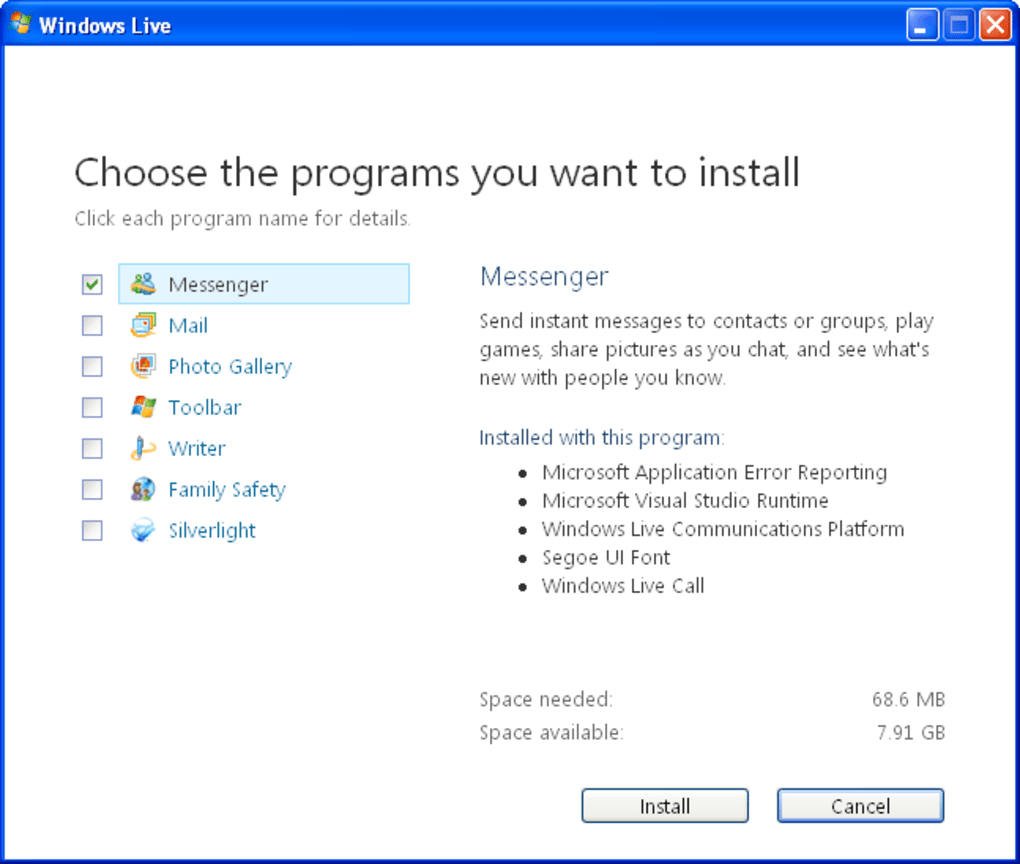 For free windows msn messenger 10 download Download MSN