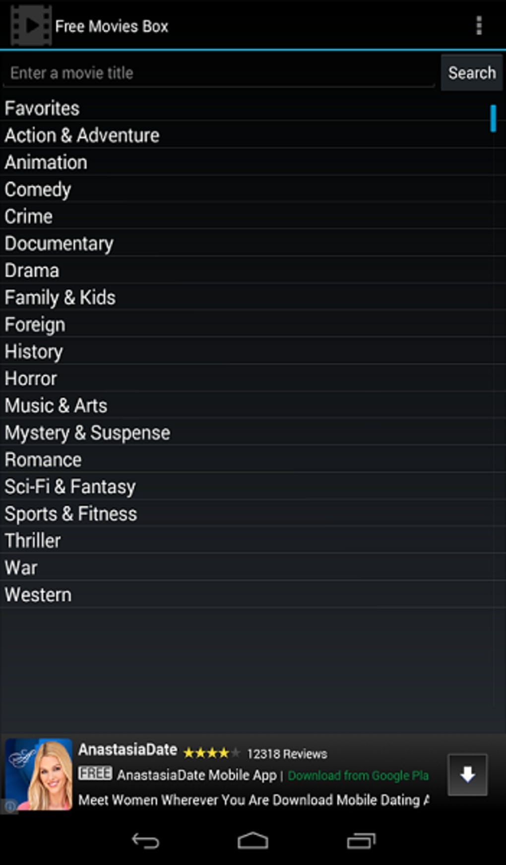 Free Movies Box for Android - Download