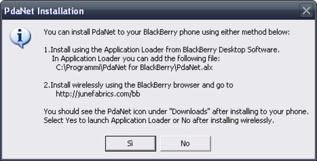 Pdanet Per Blackberry Download