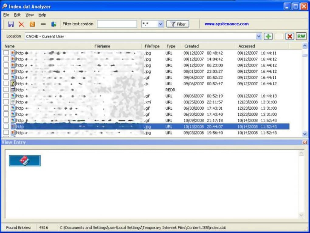 index.dat analyzer