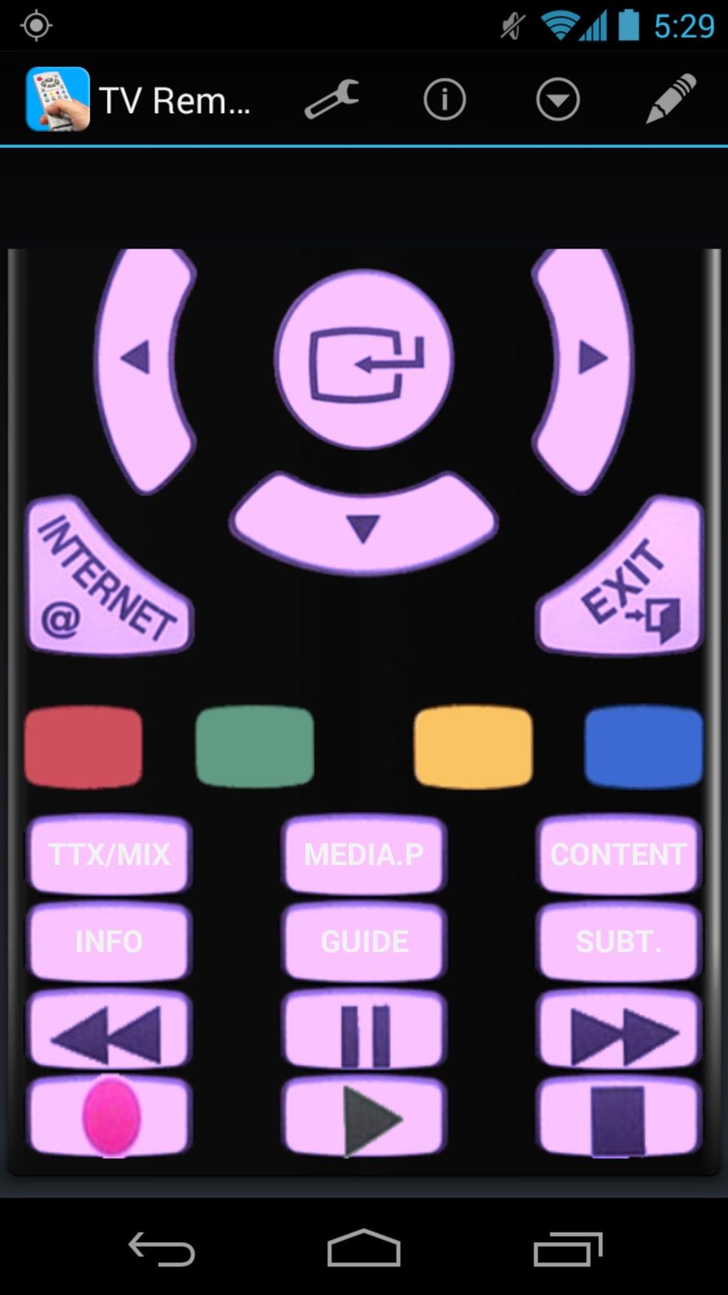 t l commande tv universelle pour android t l charger. Black Bedroom Furniture Sets. Home Design Ideas