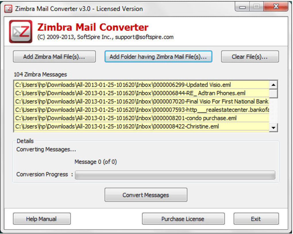 Zimbra Mail Converter - Download