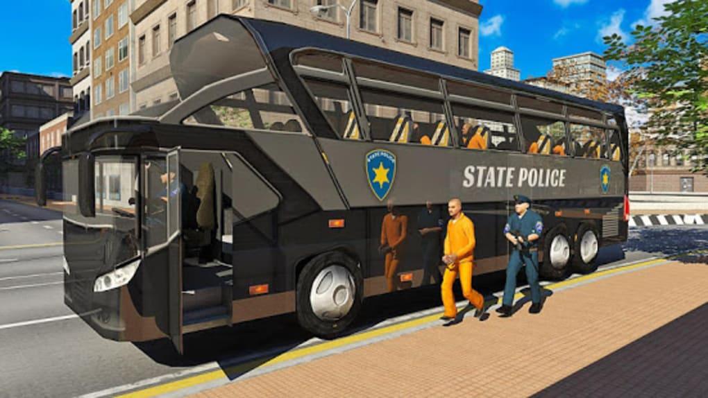 US Prison Transport Police Bus Driving