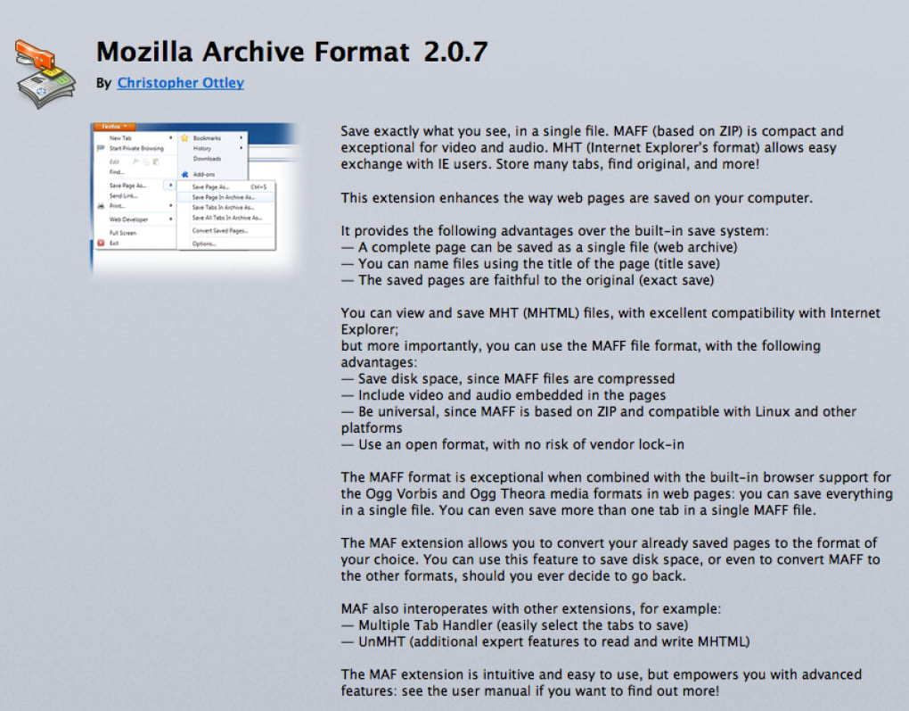 Mozilla Archive Format - Download