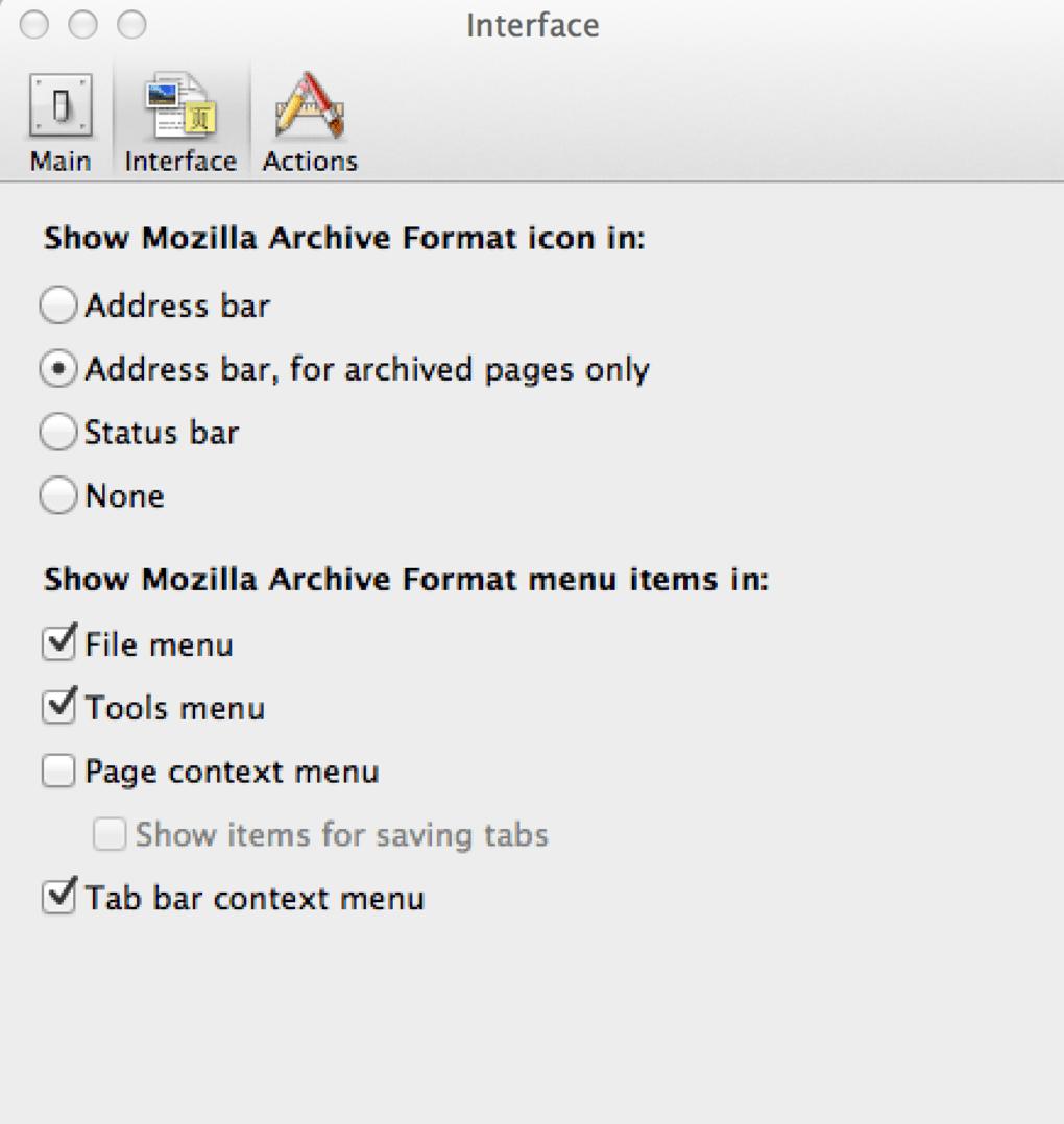 mozilla archive format ダウンロード