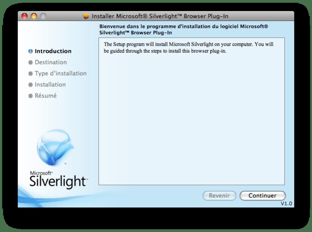 silverlight pour mac os x 10.4.11
