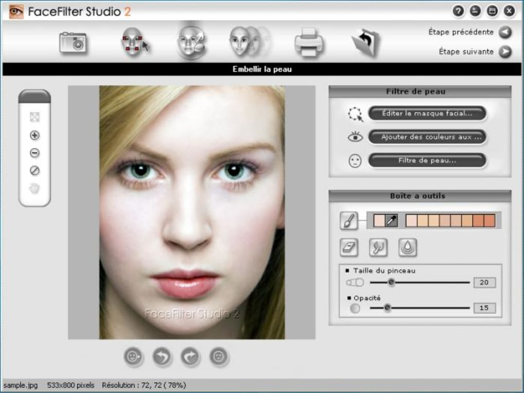 gratuitement facefilter studio