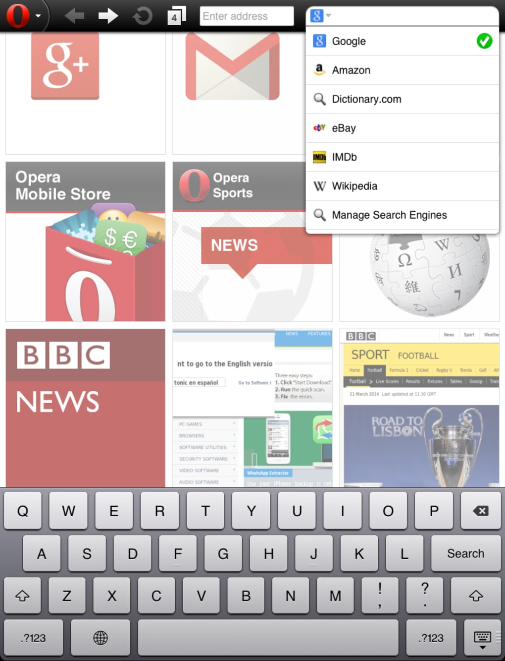 Opera Mini for iPhone - Download