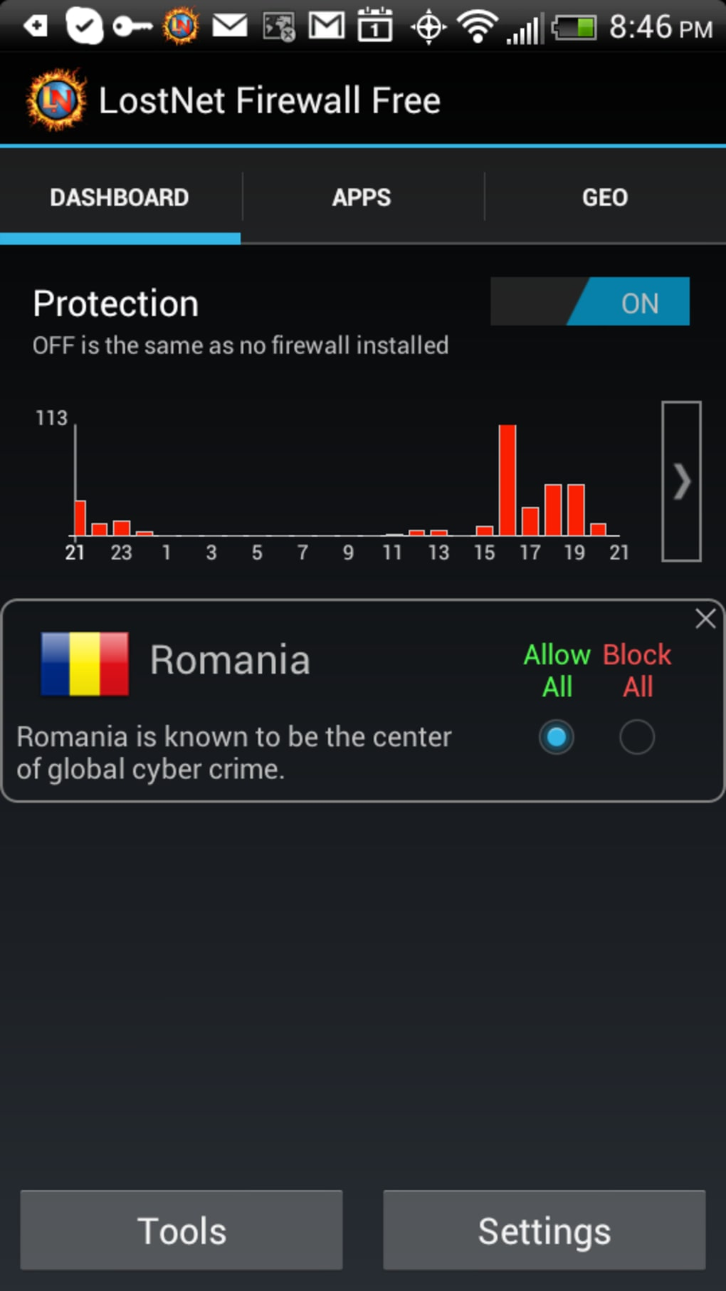 LostNet NoRoot Firewall for Android - Download