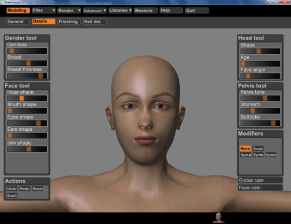 makehuman 1.0 alpha 6