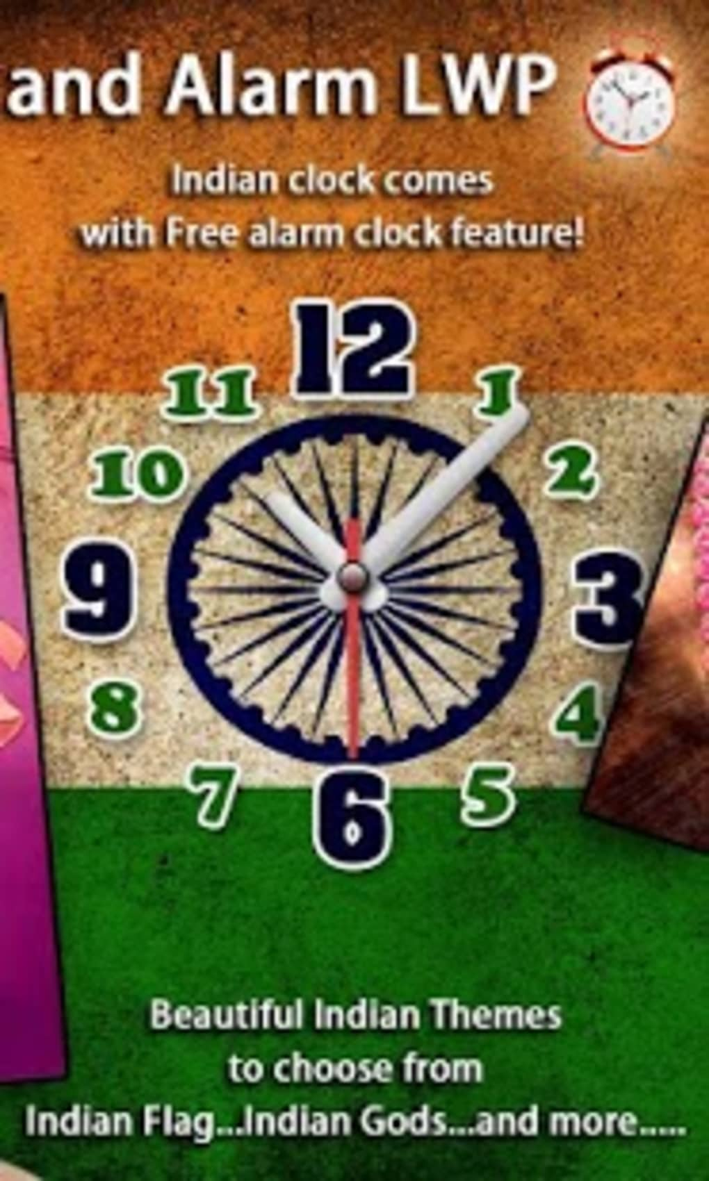 I Love India Clock & Alarm LWP for Android - Download