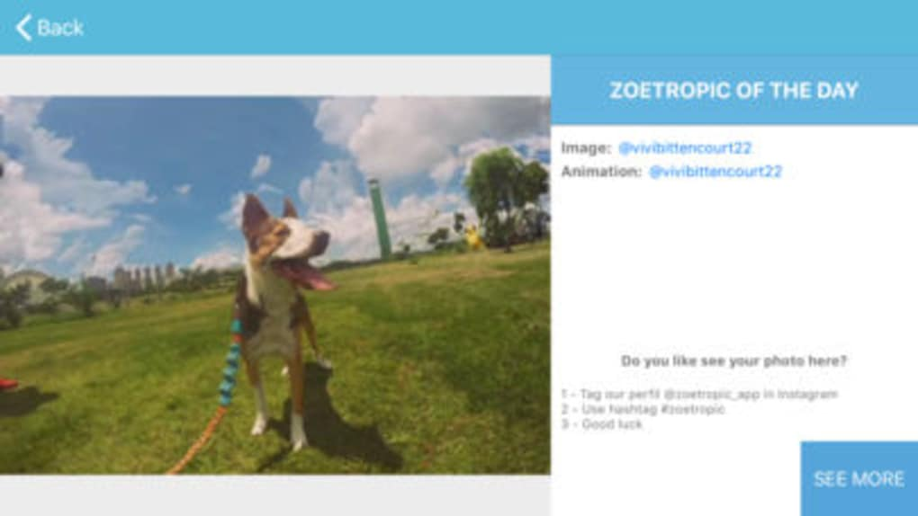 Zoetropic - Photo in motion for iPhone - Download