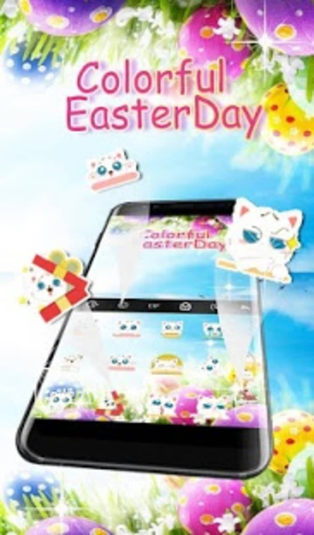 Colorful Easter Day Keyboard Theme