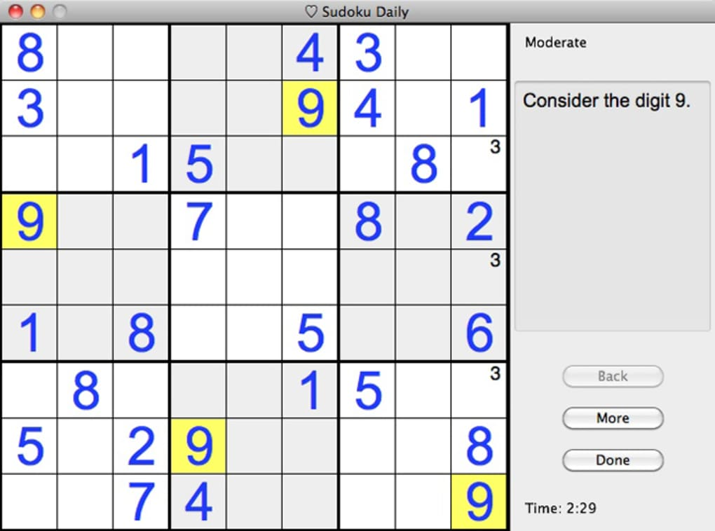 Sudoku Daily for Mac - Download