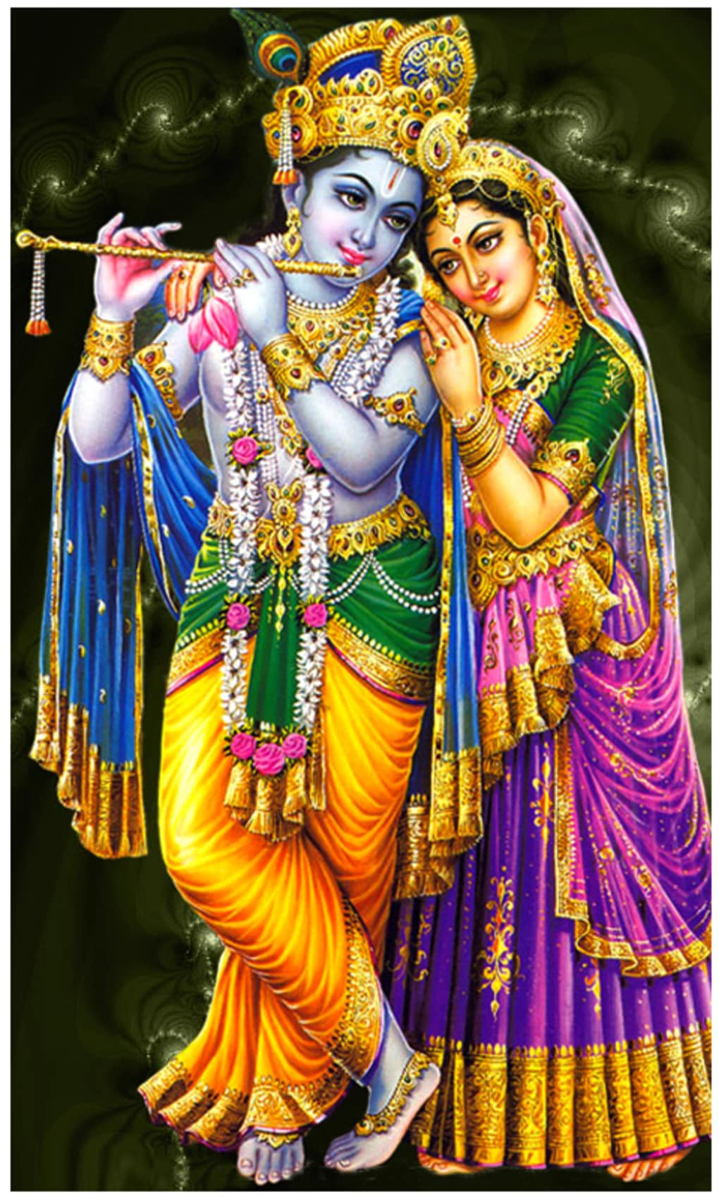 sri krishna god live wallpaper screenshot