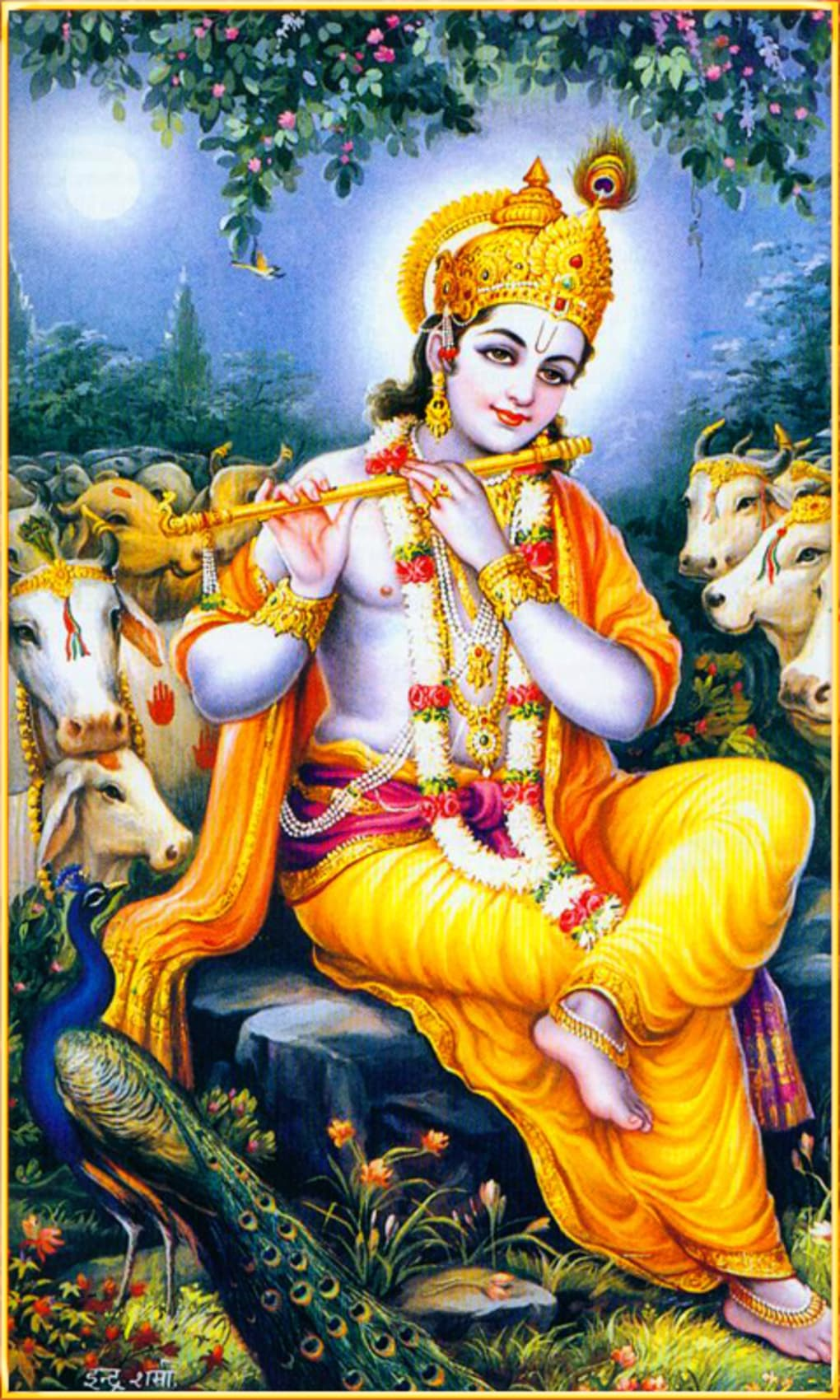 sri krishna god live wallpaper for android - download