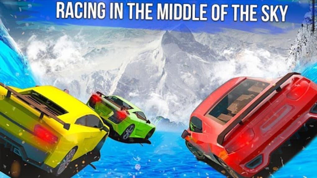Frozen Water Slide Car Race