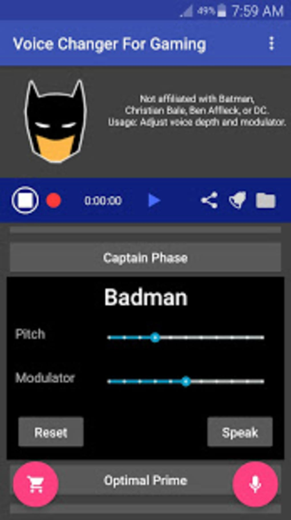 Voice Changer for Gaming PC PS4 XBox 2ndPhone for Android - Download