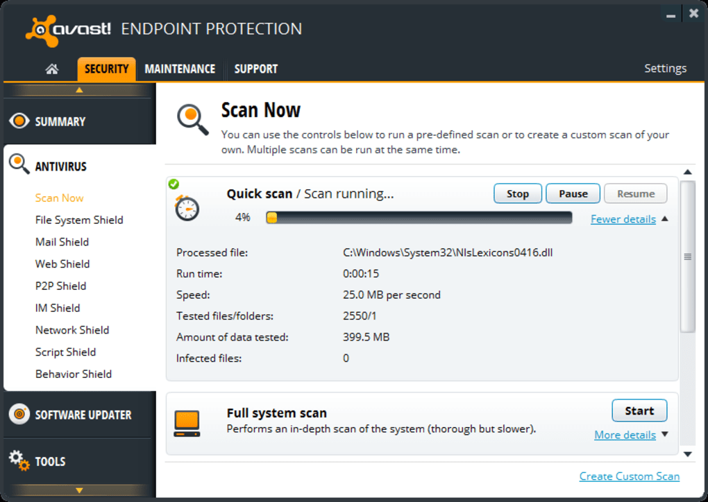 real time shields on avast wont turn on