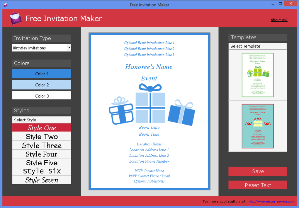 Free Invitation Creator For Desktop Computers