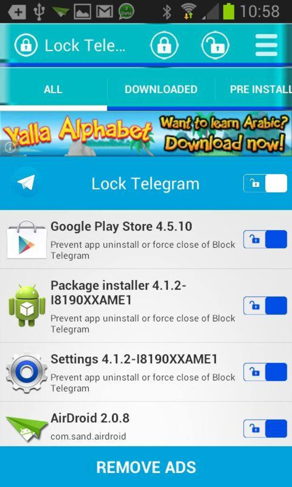 Password Telegram for Android - Download