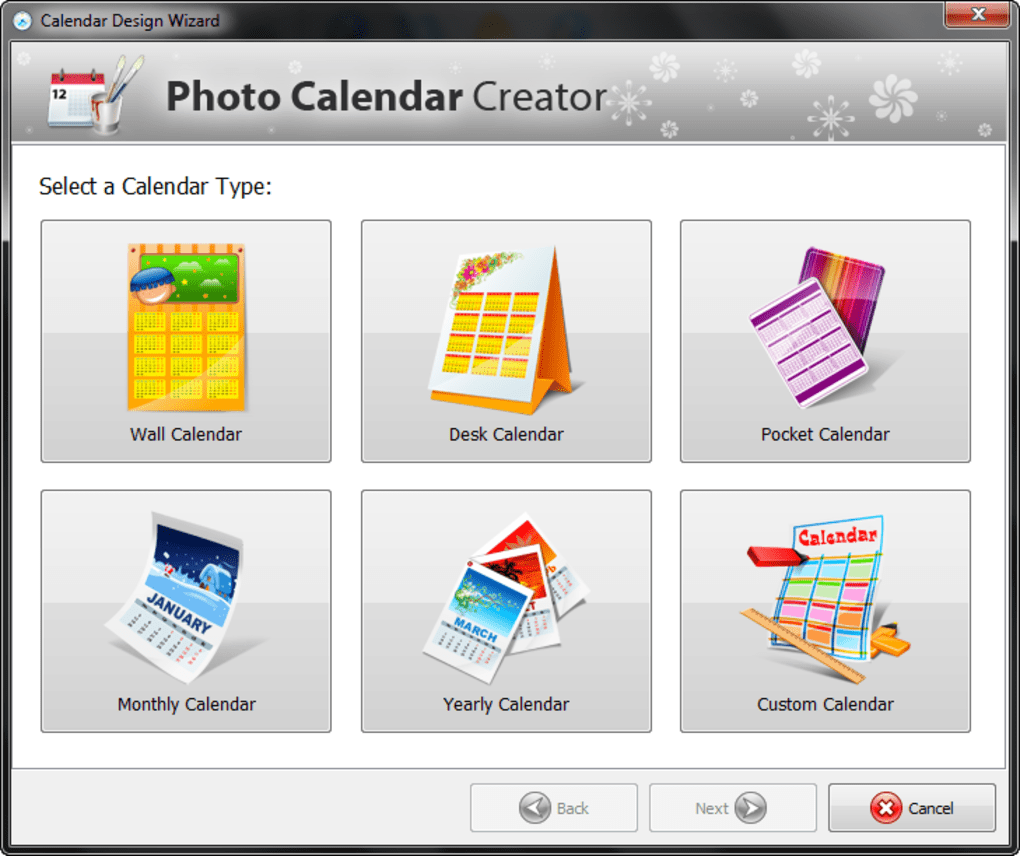 Crea Calendario Personalizzato Gratis.Photo Calendar Creator Download