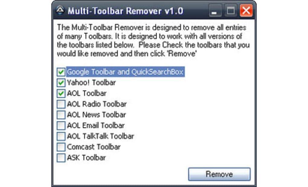 multi toolbar remover download. Black Bedroom Furniture Sets. Home Design Ideas