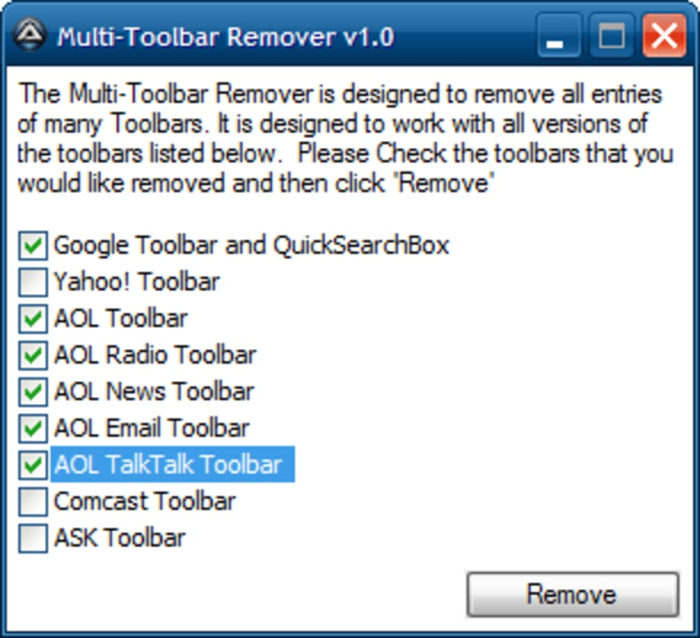 Multi-Toolbar Remover - Download