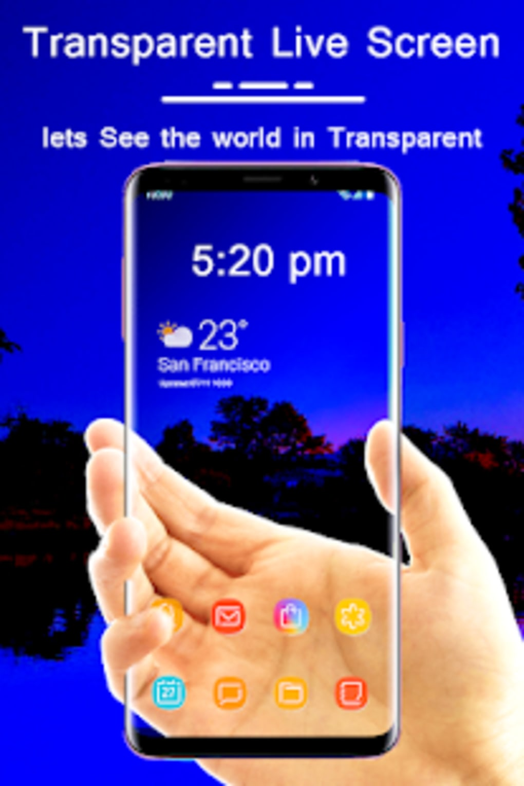 Transparent Live Wallpaper : Transparent screen for Android