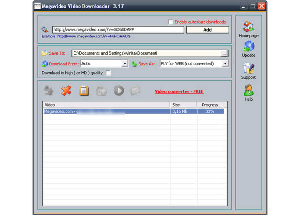 gratuitement megavideo video downloader 3.19