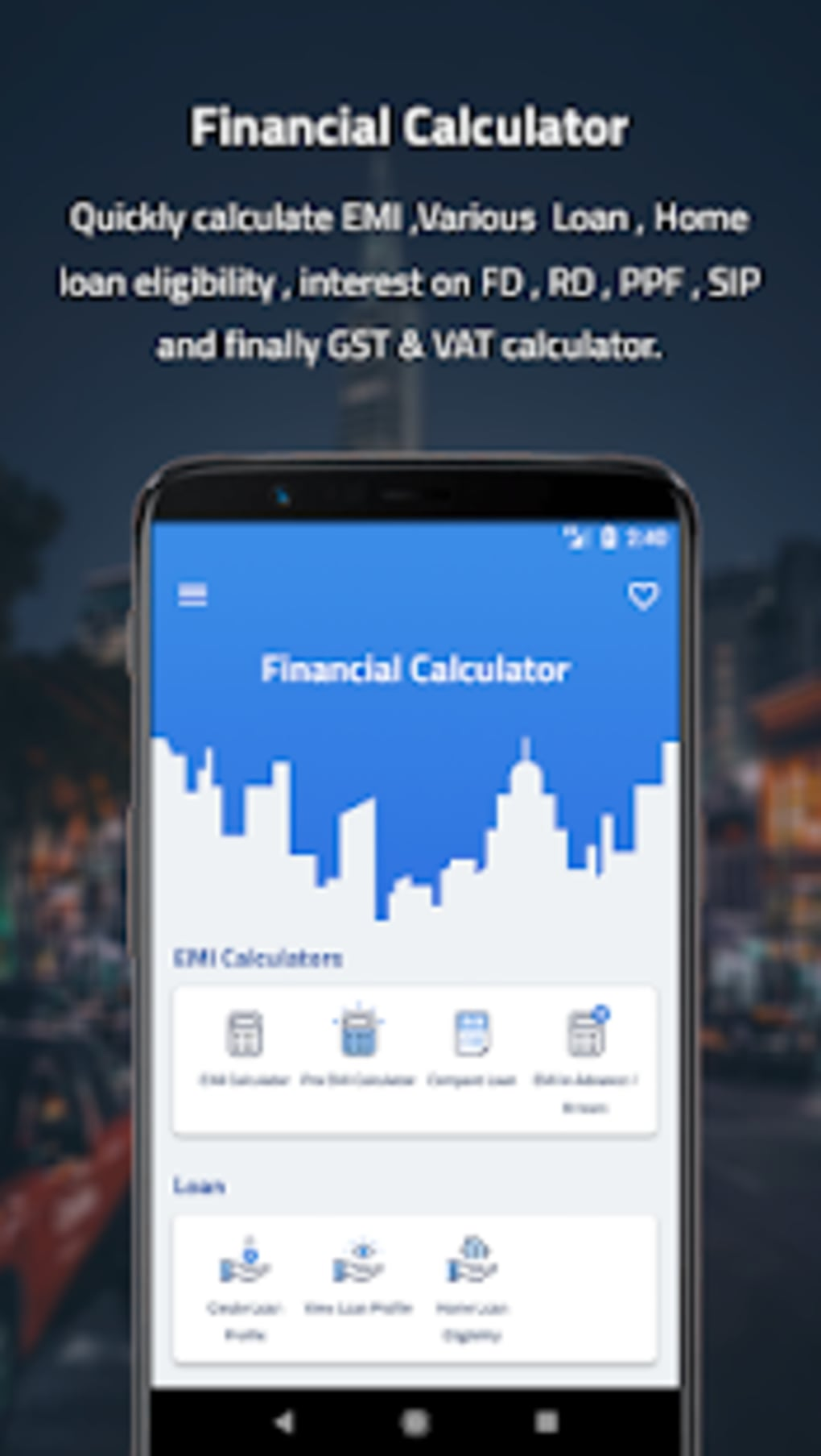 EMI Financial Calculator PRO for Android - Download