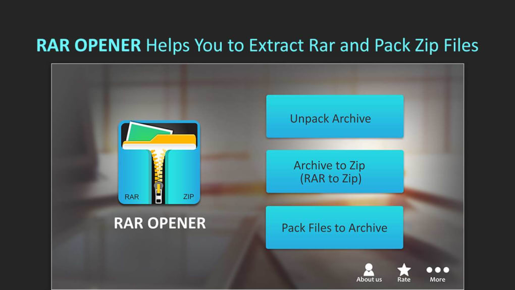 RAR Opener & RAR to ZIP Converter