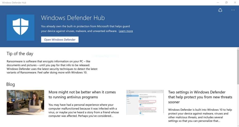 Windows Defender Hub (Windows) - Download