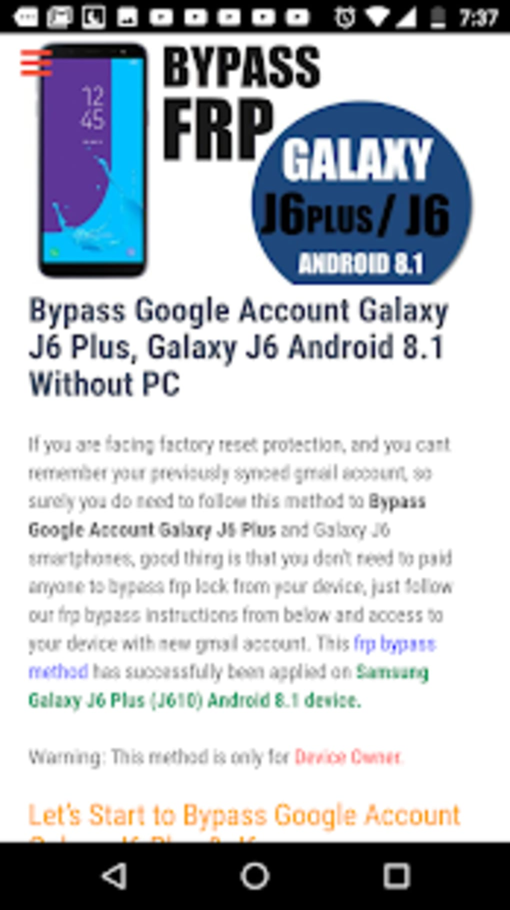 Bypass FRP Lock for Android - Download