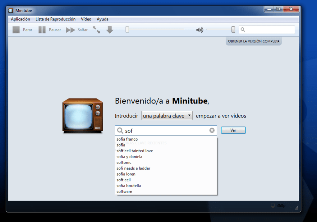 Minitube - Download