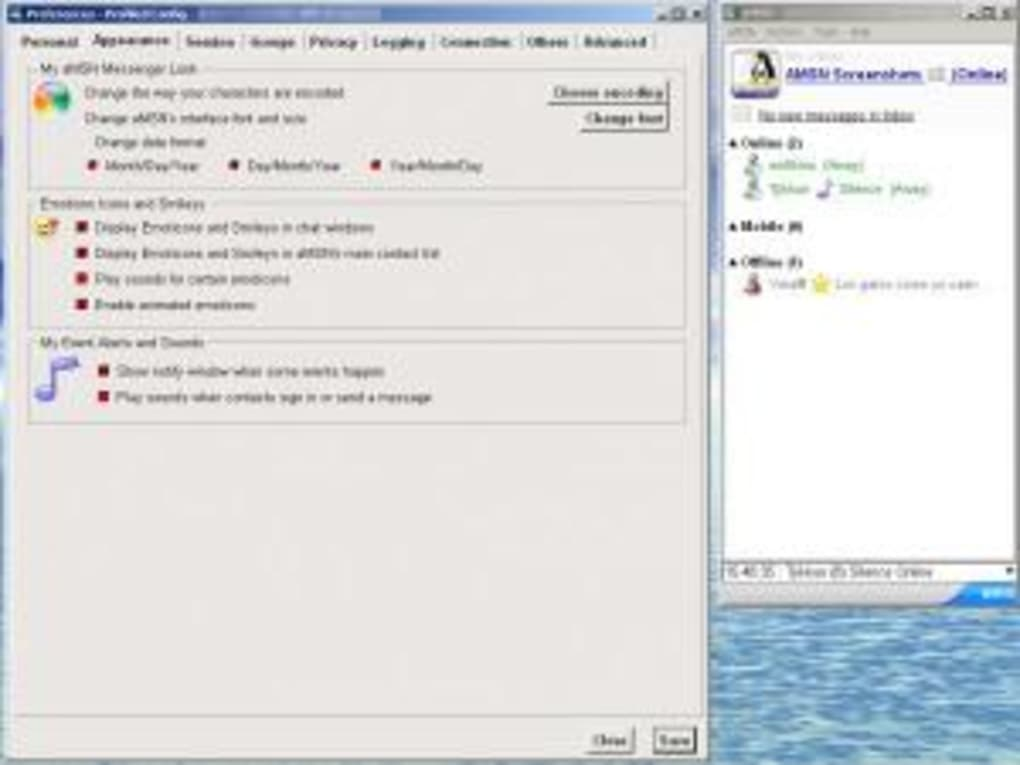 amsn messenger pour windows xp